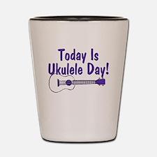 Ukulele Day Shot Glass