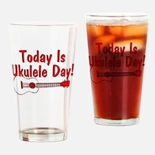 Ukulele Day Drinking Glass