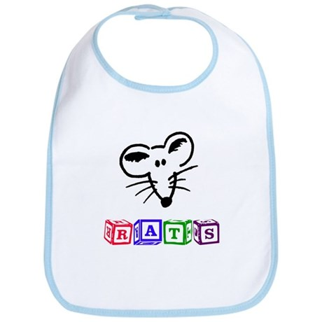 Rat Face Baby Block Bib
