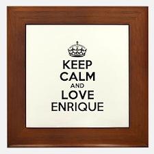 Keep Calm and Love ENRIQUE Framed Tile