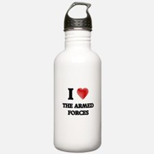 I Love The Armed Force Water Bottle