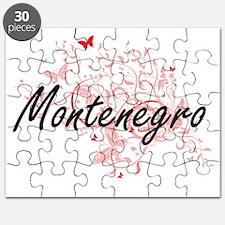 Montenegro Artistic Design with Butterflies Puzzle