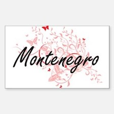 Montenegro Artistic Design with Butterflie Decal