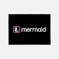 Mermaid (Pink) 5'x7'Area Rug