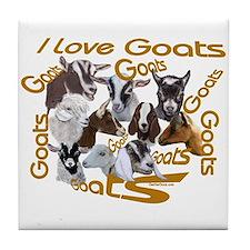 I love Goat Breeds Tile Coaster