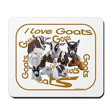 I love Goat Breeds Mousepad
