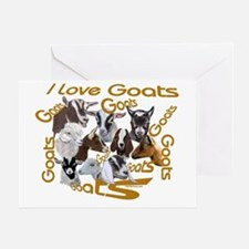 I love Goat Breeds Greeting Card
