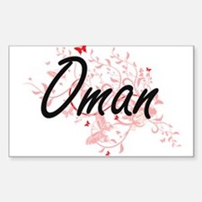 Oman Artistic Design with Butterflies Decal