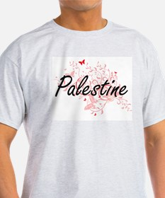Palestine Artistic Design with Butterflies T-Shirt