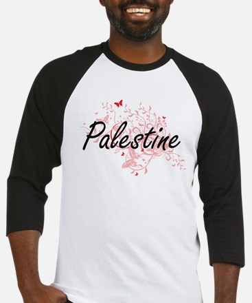 Palestine Artistic Design with But Baseball Jersey