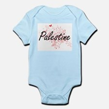 Palestine Artistic Design with Butterfli Body Suit