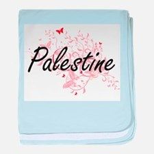 Palestine Artistic Design with Butter baby blanket