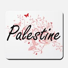 Palestine Artistic Design with Butterfli Mousepad