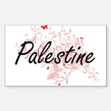 Palestine Artistic Design with Butterflies Decal