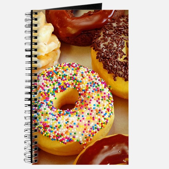Assorted delicious donuts Journal