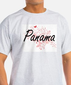 Panama Artistic Design with Butterflies T-Shirt