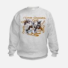 I love Goat Breeds Sweatshirt