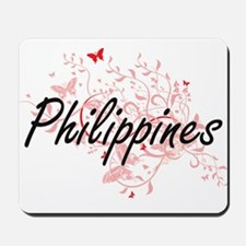 Philippines Artistic Design with Butterf Mousepad