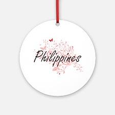 Philippines Artistic Design with Bu Round Ornament