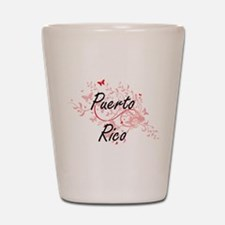 Puerto Rico Artistic Design with Butter Shot Glass