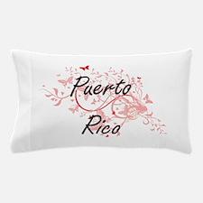 Puerto Rico Artistic Design with Butte Pillow Case