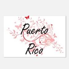 Puerto Rico Artistic Desi Postcards (Package of 8)