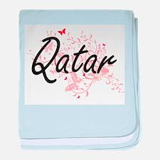Qatar Artistic Design with Butterflie baby blanket