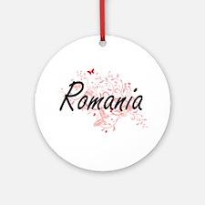 Romania Artistic Design with Butter Round Ornament