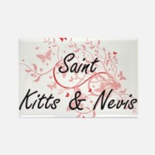 Saint Kitts & Nevis Artistic Design with B Magnets