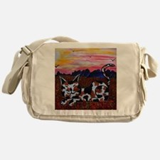 Funny Field cat Messenger Bag