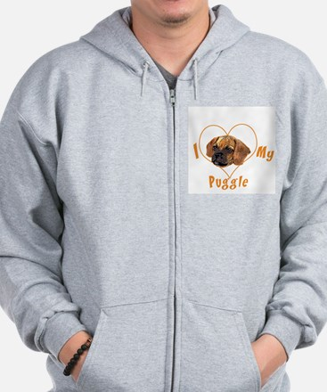 I love my puggle (orange) Sweatshirt