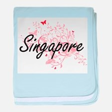 Singapore Artistic Design with Butter baby blanket