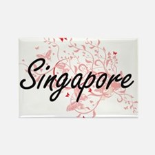 Singapore Artistic Design with Butterflies Magnets
