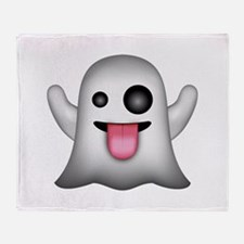 Ghost Emoji Throw Blanket