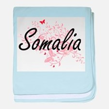 Somalia Artistic Design with Butterfl baby blanket