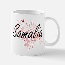 Somalia Artistic Design with Butterflies Mugs