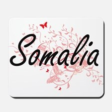 Somalia Artistic Design with Butterflies Mousepad