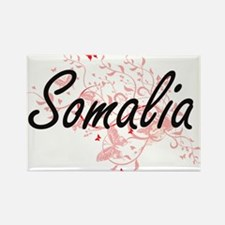 Somalia Artistic Design with Butterflies Magnets
