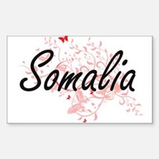 Somalia Artistic Design with Butterflies Decal