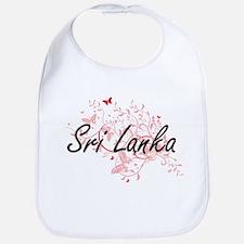 Sri Lanka Artistic Design with Butterflies Bib