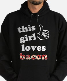 This girl loves bacon Hoodie