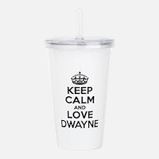 Keep Calm and Love DWA Acrylic Double-wall Tumbler