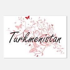 Turkmenistan Artistic Des Postcards (Package of 8)