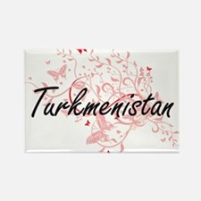 Turkmenistan Artistic Design with Butterfl Magnets