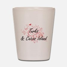 Turks & Caicos Island Artistic Design w Shot Glass