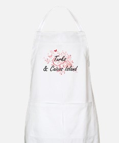 Turks & Caicos Island Artistic Design with B Apron