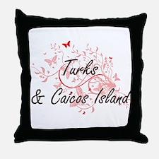 Turks & Caicos Island Artistic Design Throw Pillow