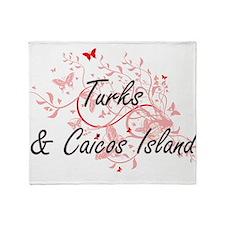 Turks & Caicos Island Artistic Desig Throw Blanket