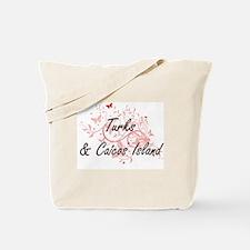 Turks & Caicos Island Artistic Design wit Tote Bag