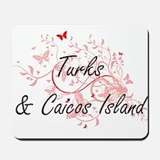 Turks & Caicos Island Artistic Design wi Mousepad